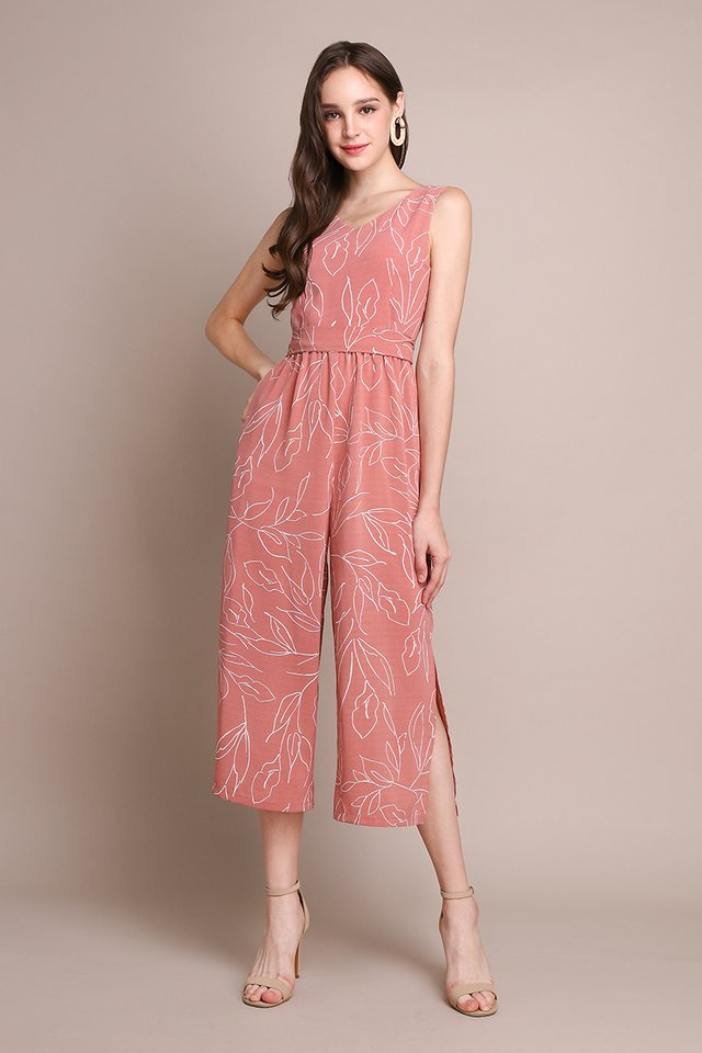 Barcelona Romper In Rose Prints