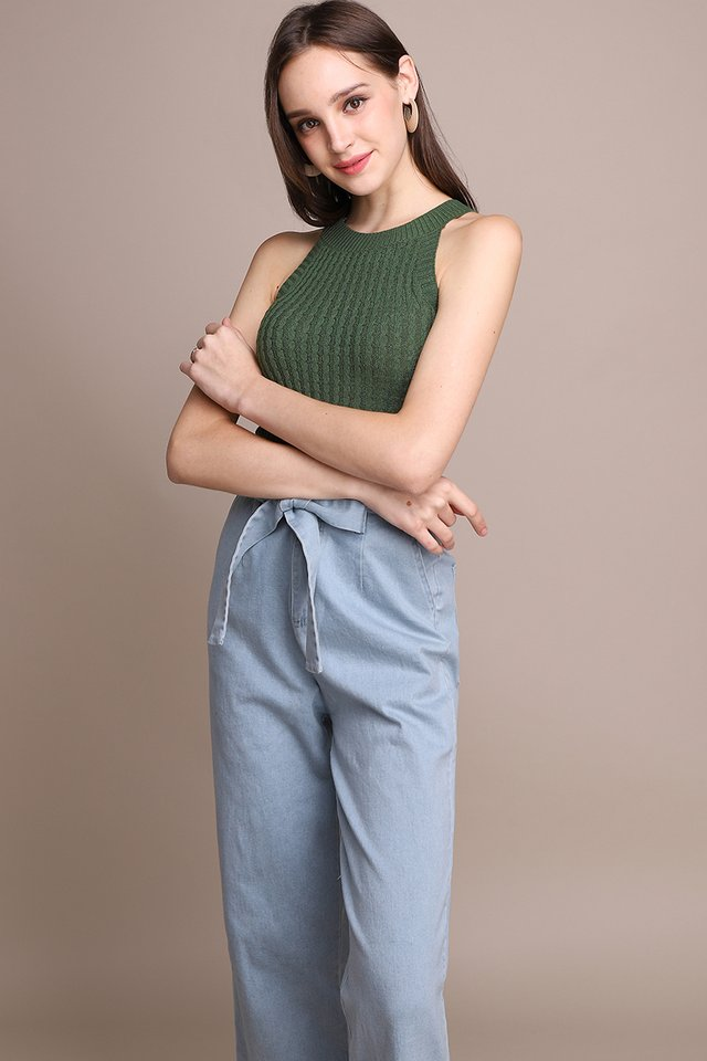 Hannah Top In Pine Green