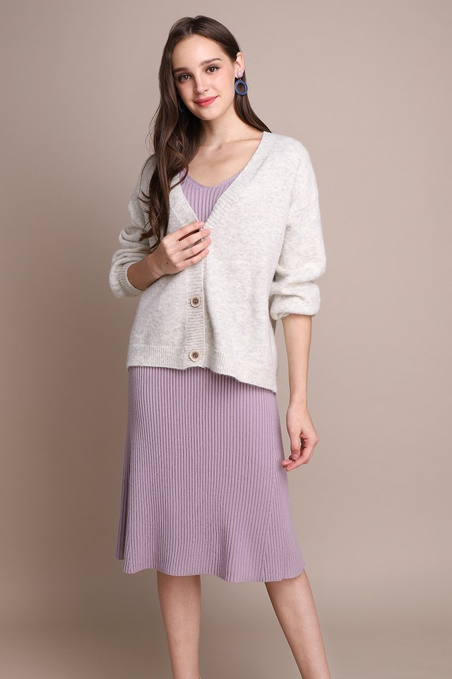 [BO] Winter Warmth Cardigan In Heather Grey