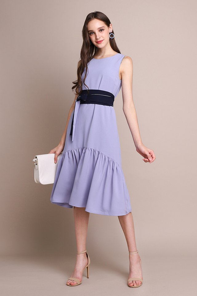 Better Than Ever Dress In Blue Periwinkle