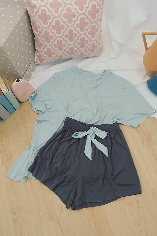 Slumber Party Set In Mint Grey