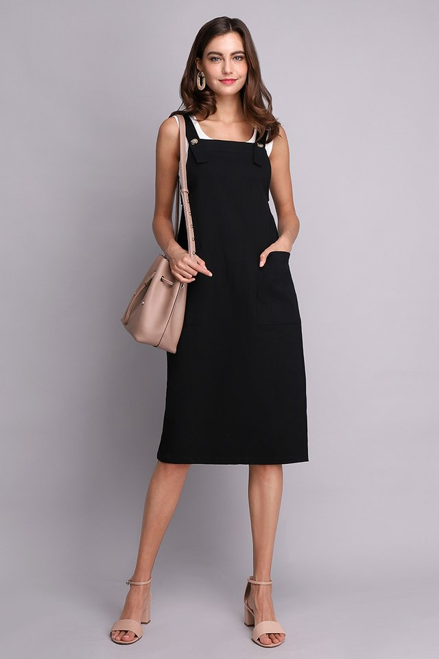 Adventures Of Huckleberry Dress In Classic Black