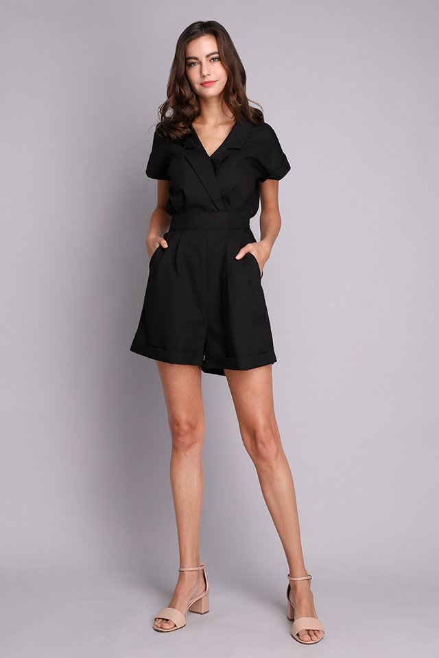 French Belle Romper In Classic Black