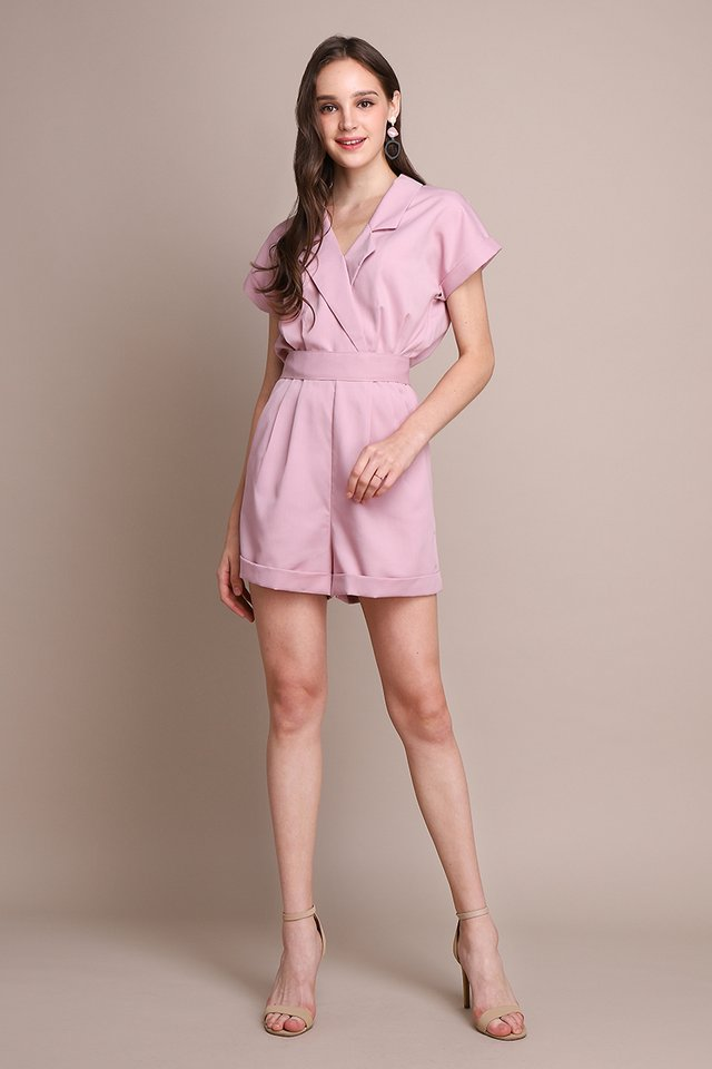 French Belle Romper In French Pink