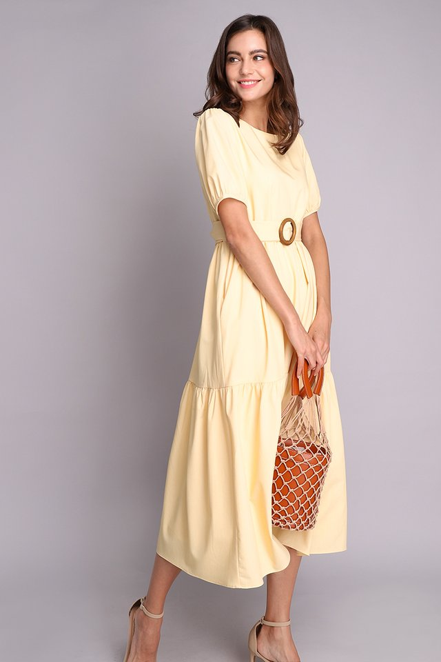 Bursting With Happiness Dress In Sunshine Yellow