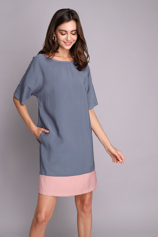 Que Sera Sera Dress In Blue Pink