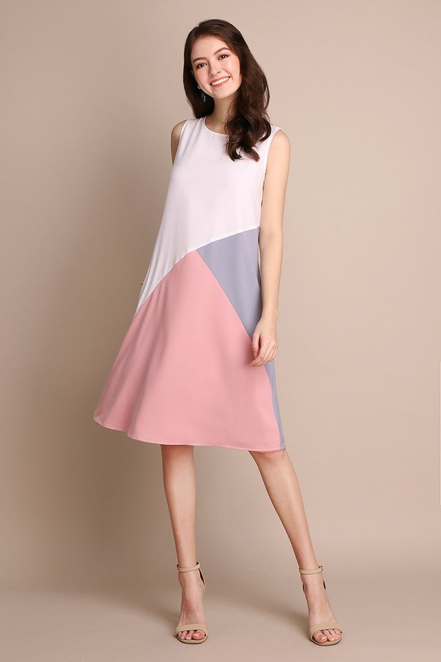 Colours Of Radiance Dress In Pink Grey