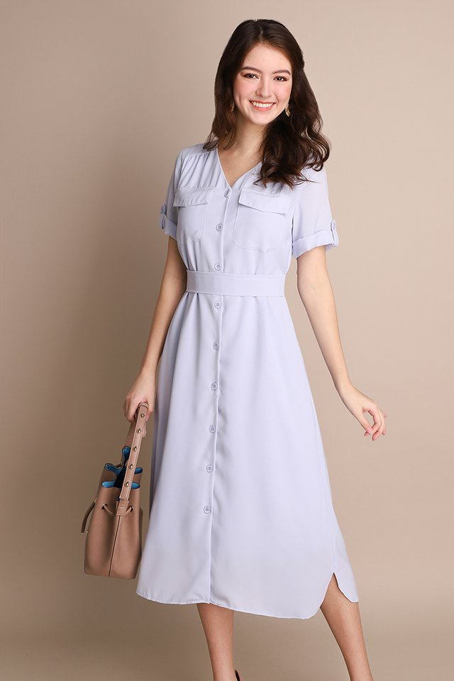 Vacation Options Dress In Periwinkle