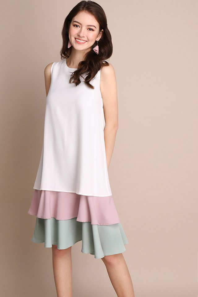 Say Hello Dress In Pastel Candy