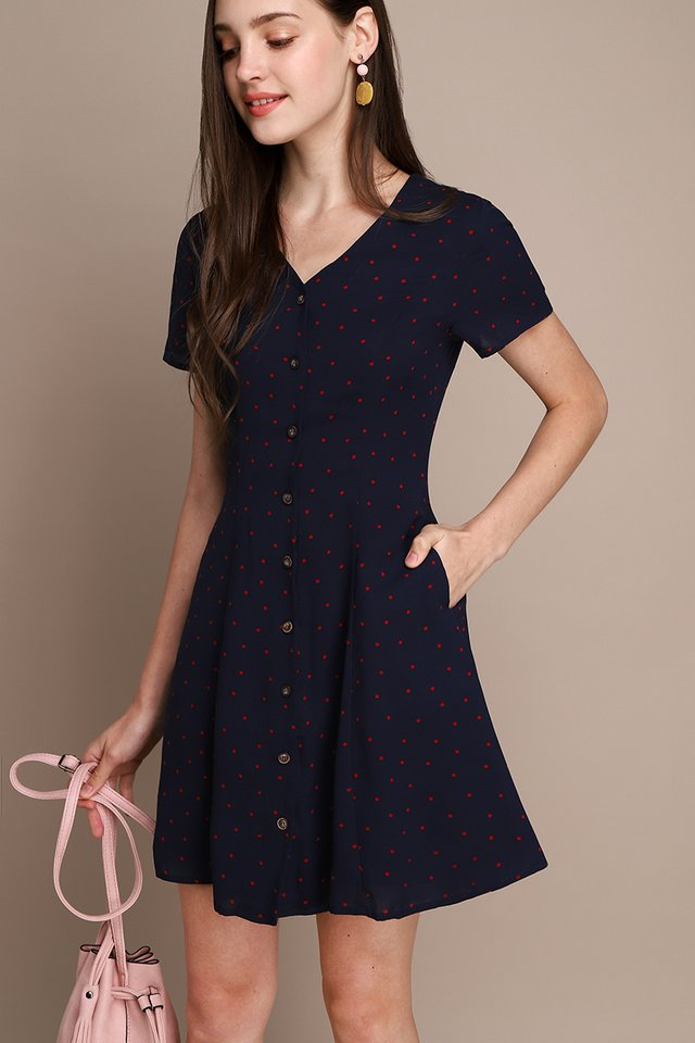 [BO] Little Italy Dress In Blue Dots