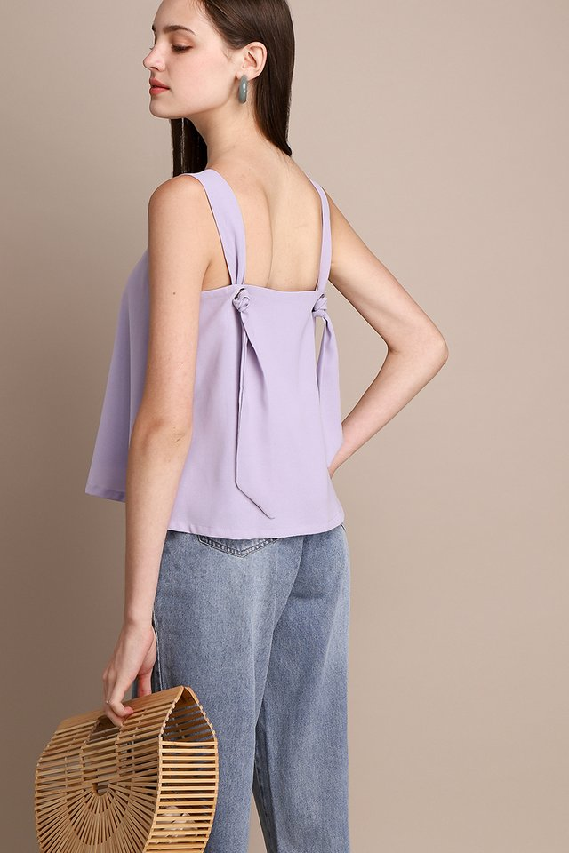 Candy Treats Top In Soft Lilac
