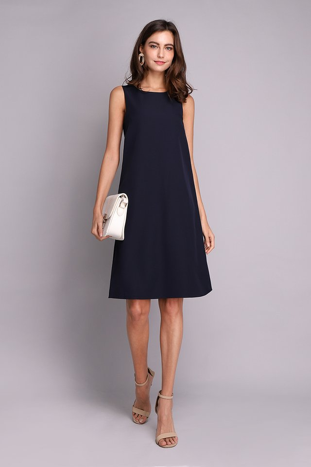 Back In The Limelight Dress In Blue Olive