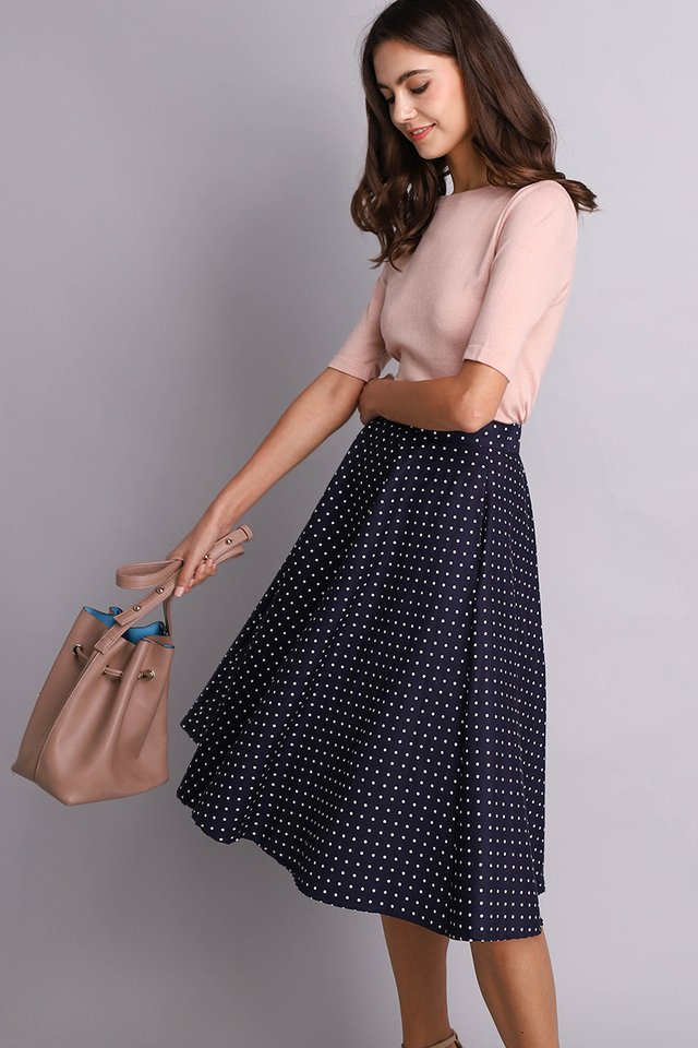 Poppy Skirt In Blue Dots