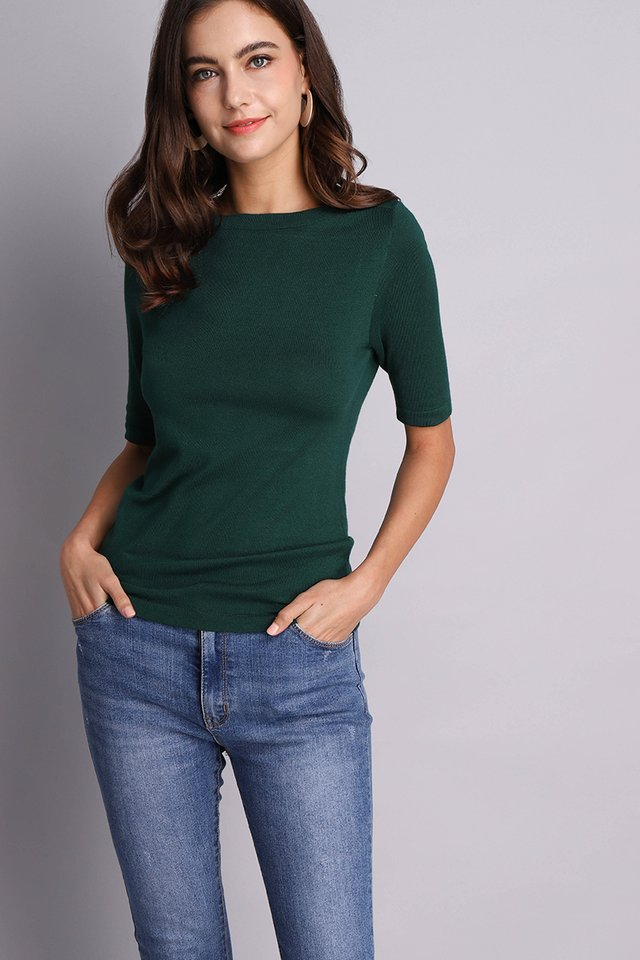 Antoinette Top In Forest Green