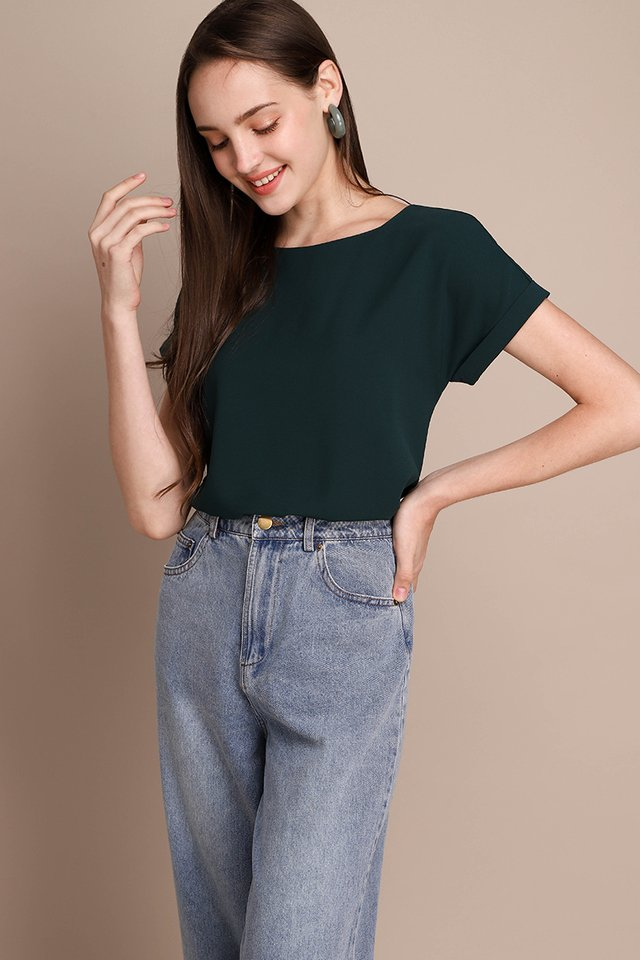 Ryan Top In Forest Green