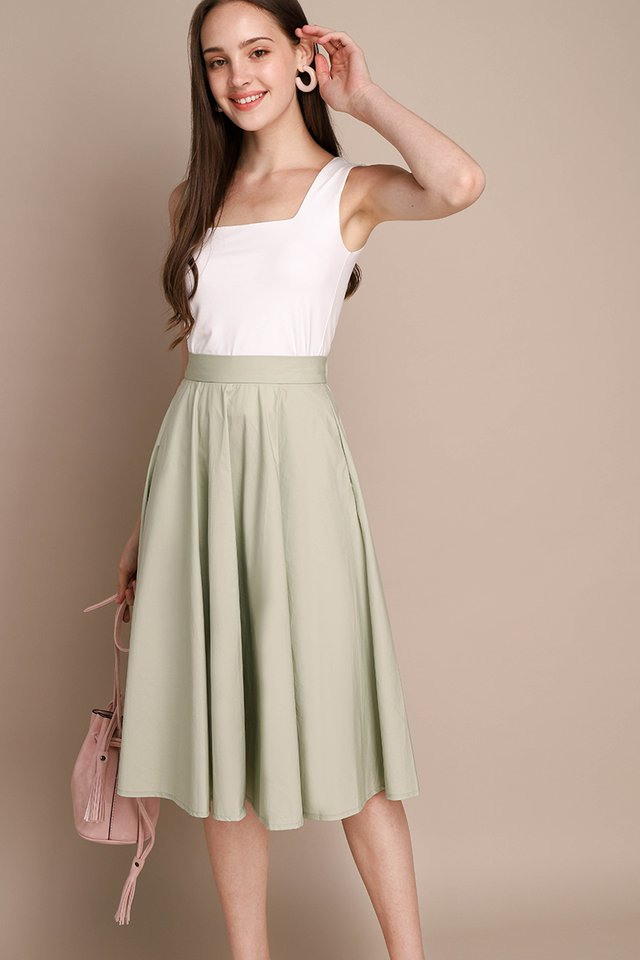 Poppy Skirt In Sage Green
