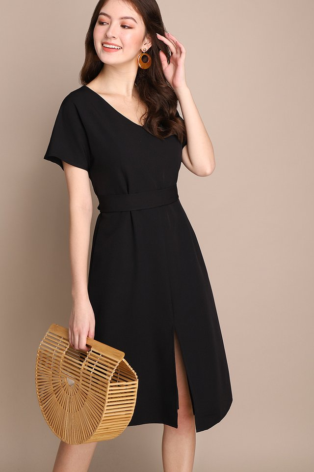 Engaging Tales Dress In Classic Black