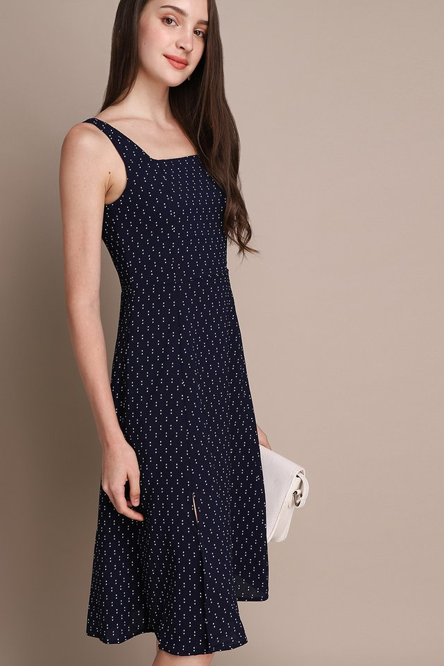 Playtime Dress In Blue Dots