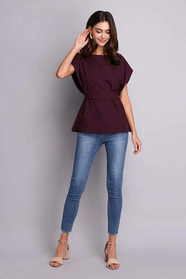 Chic Simplicity Top In Burgundy