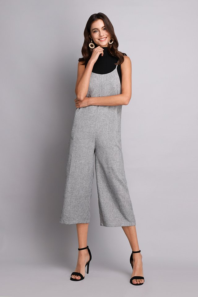 Time Traveller Romper In Heather Grey