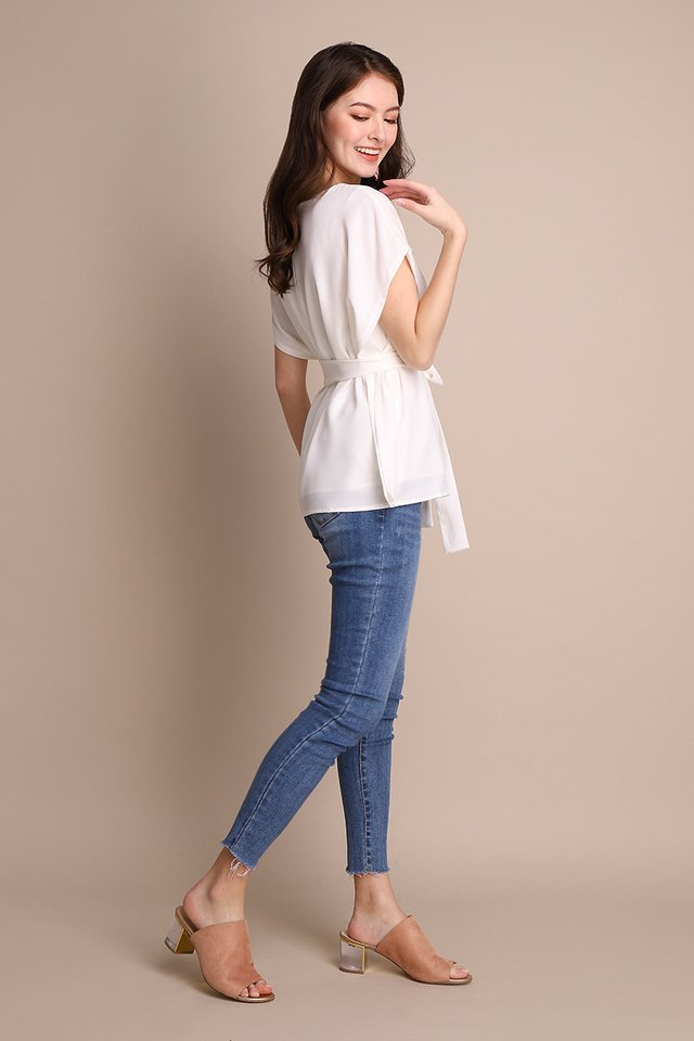 Chic Simplicity Top In Classic White