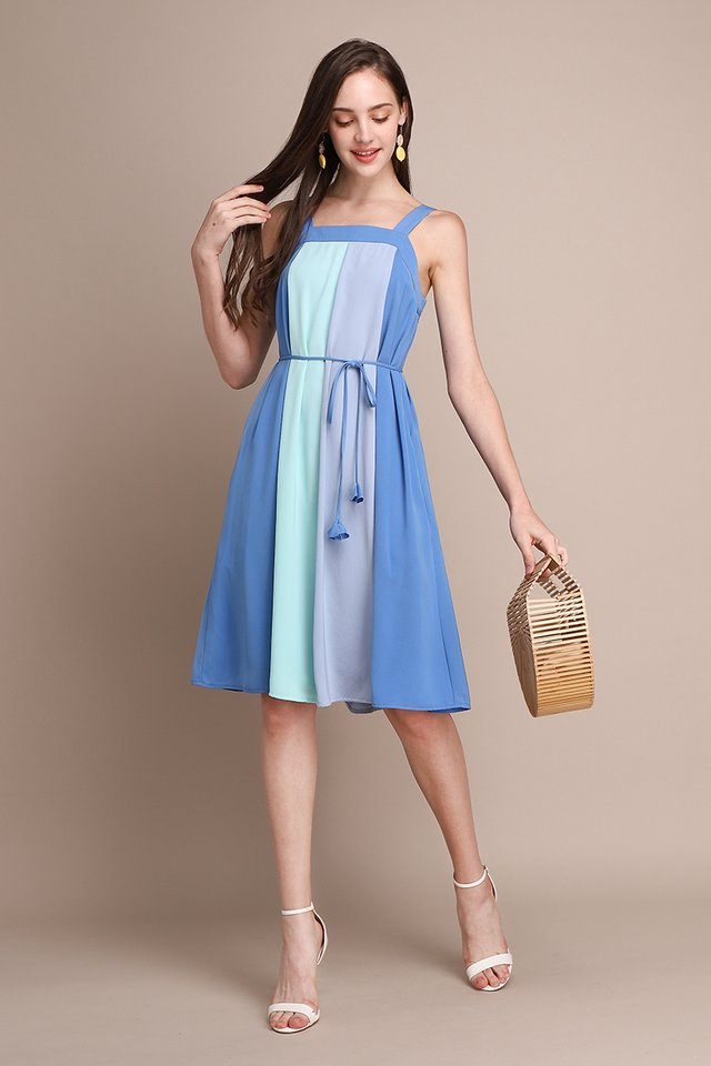 French Palette Dress In Ocean