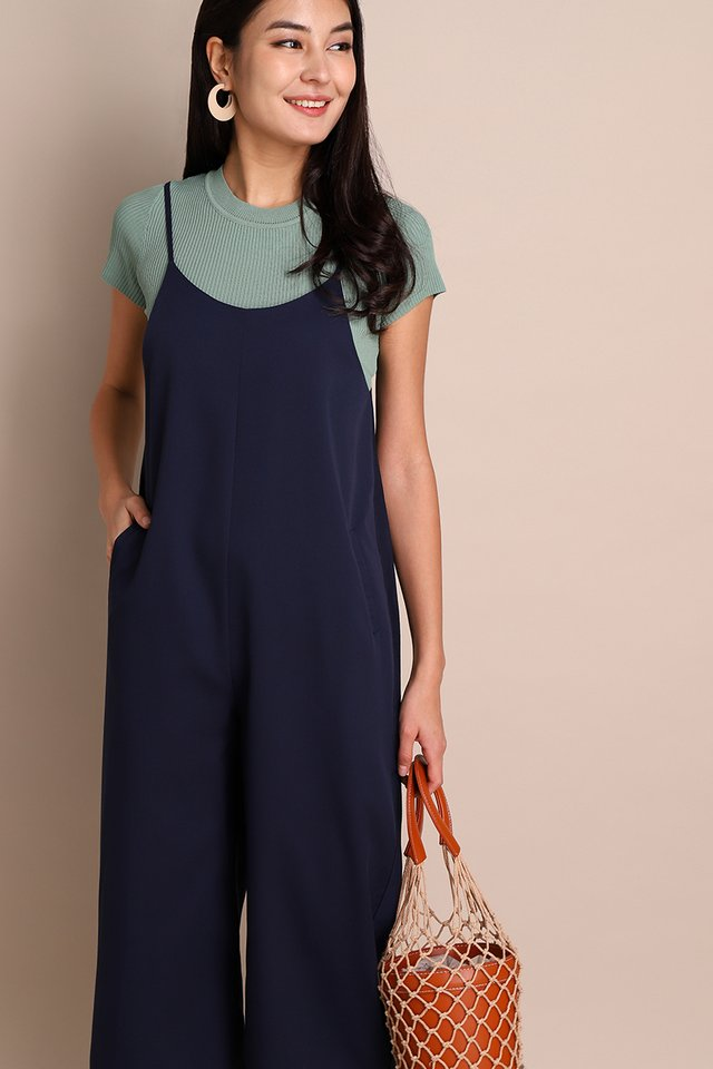 [BO] Time Traveller Romper In Navy Blue