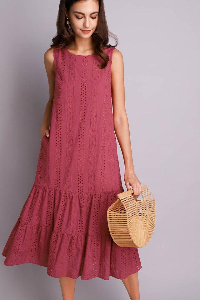 Dreamy Delight Dress In Rose Pink