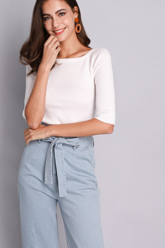 Paige Top In Classic White