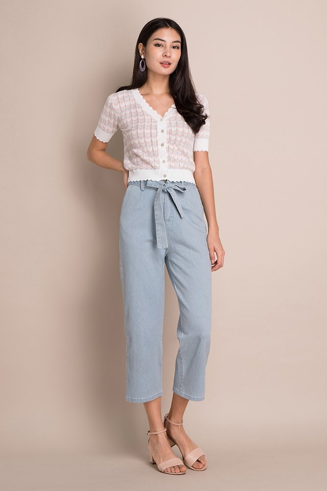Sweet Hues Top In White Pastel