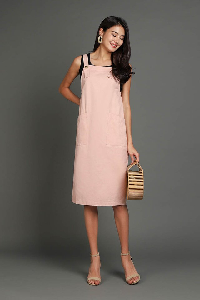 Adventures Of Huckleberry Dress In Dusty Pink