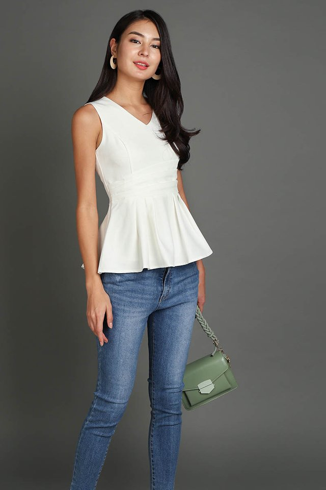 Spring Garden Top In Classic White