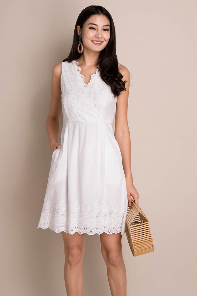 Quiet Charm Dress In Classic White