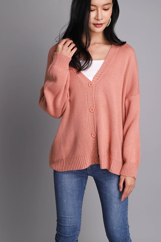 Astrid Cardigan In Apricot
