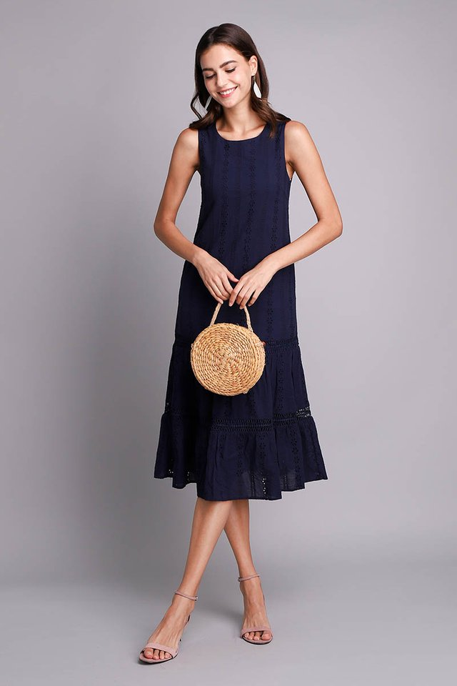 Mesmerized By You Dress In Navy Blue