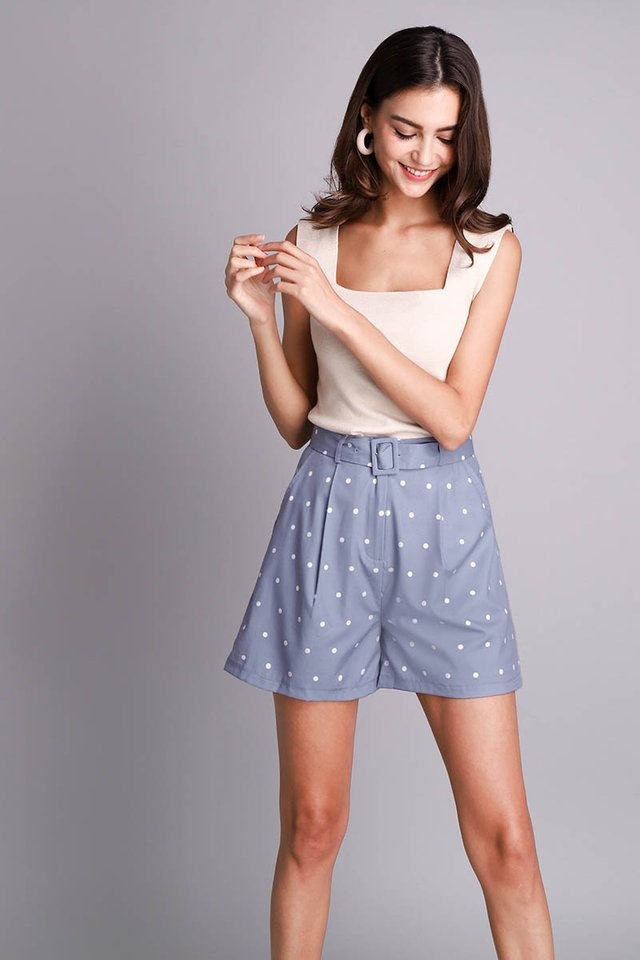 Starry Skies Shorts In Periwinkle Dots