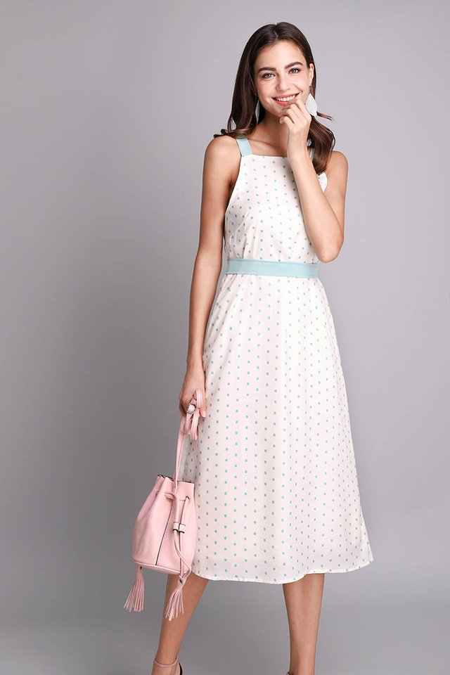 Peace Of Mind Dress In Cream Dots