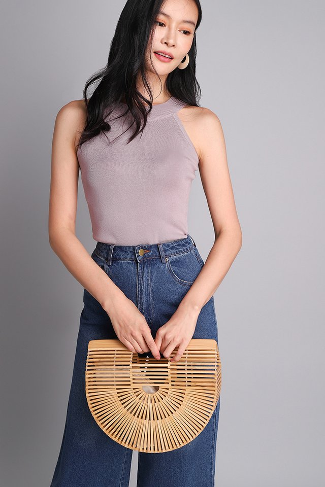 Asher Top In Dusty Lilac