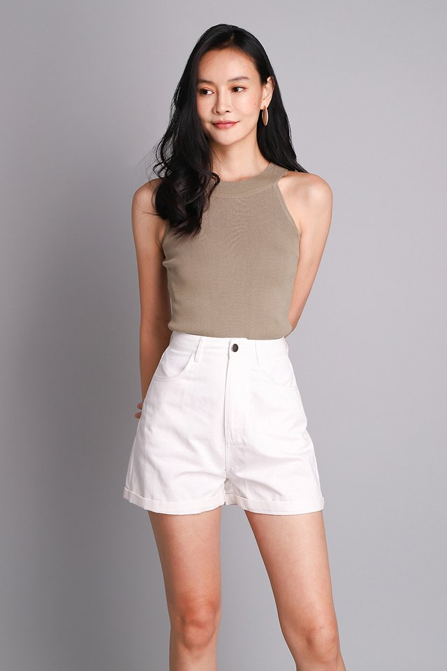 Asher Top In Taupe