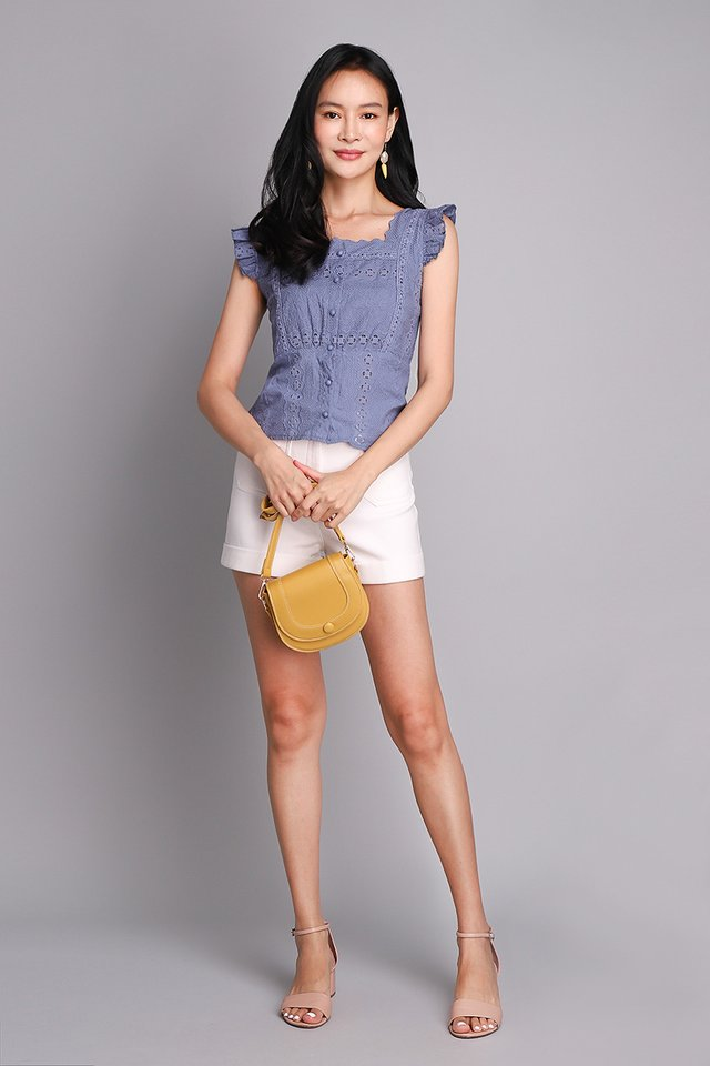 Spring Bliss Top In Muted Blue