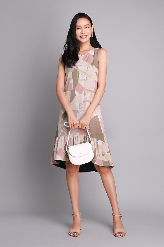 Art Of Geometry Dress In Abstract Prints