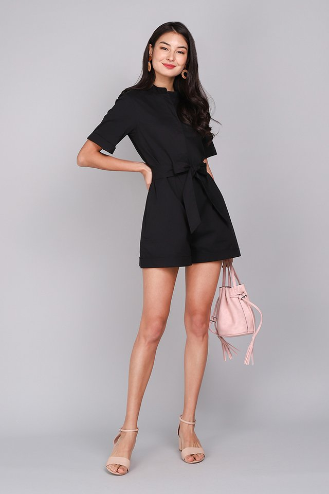[BO] Malibu Nights Romper In Classic Black