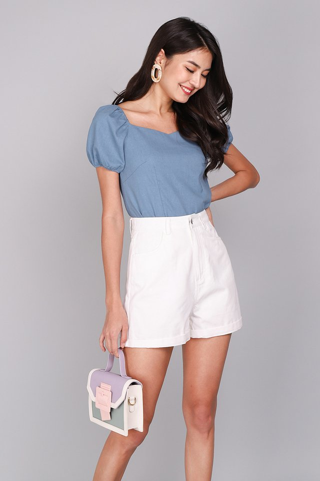 Most Hearted Top In Muted Blue