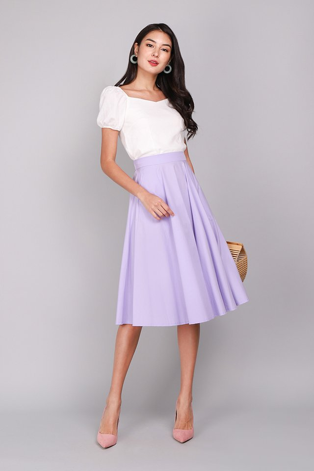 Poppy Skirt In Soft Lilac