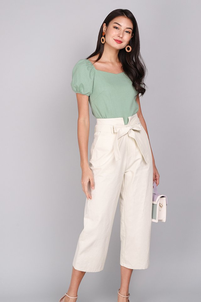 Most Hearted Top In Sage Green
