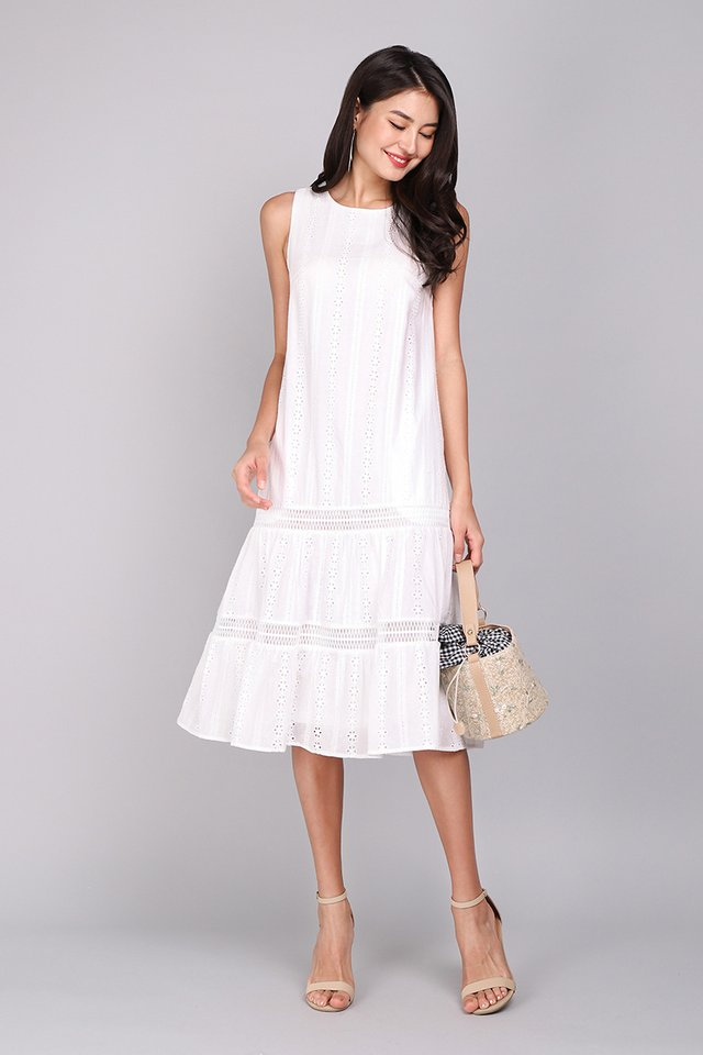Mesmerized By You Dress In Classic White
