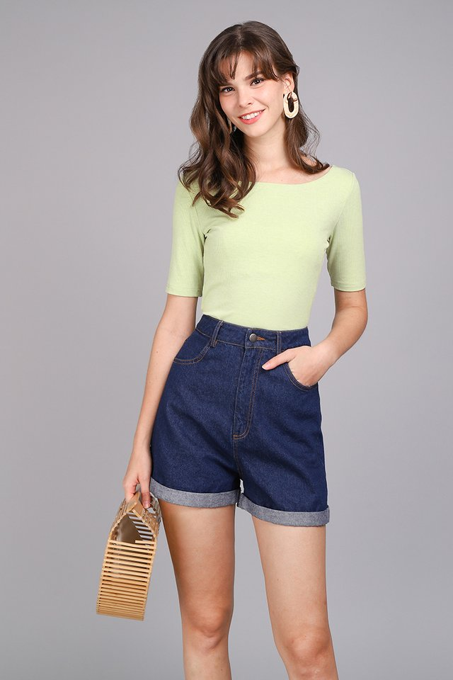 Colette Top In Apple Green