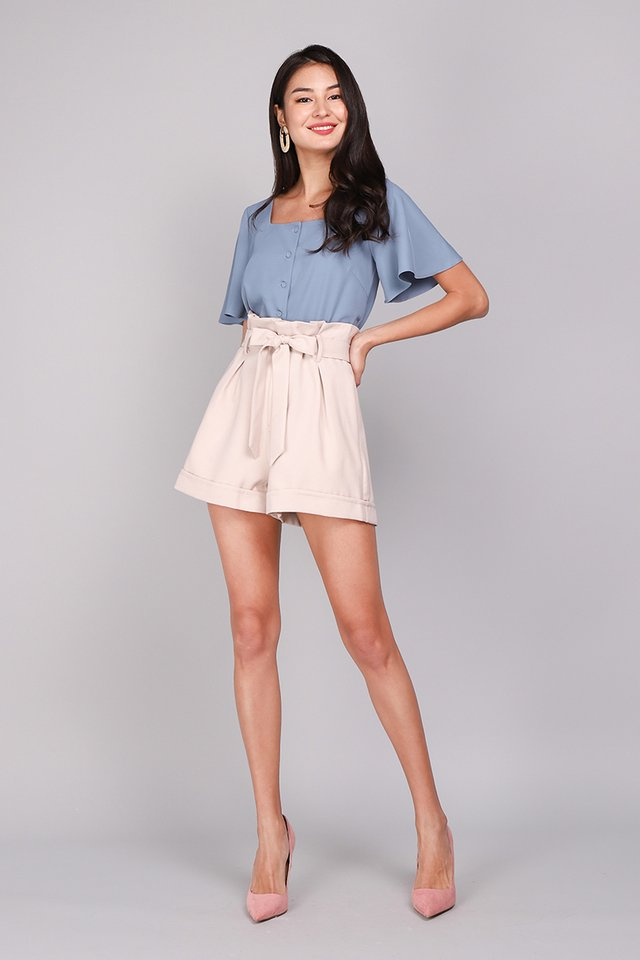 Back To Summer Top In Muted Blue