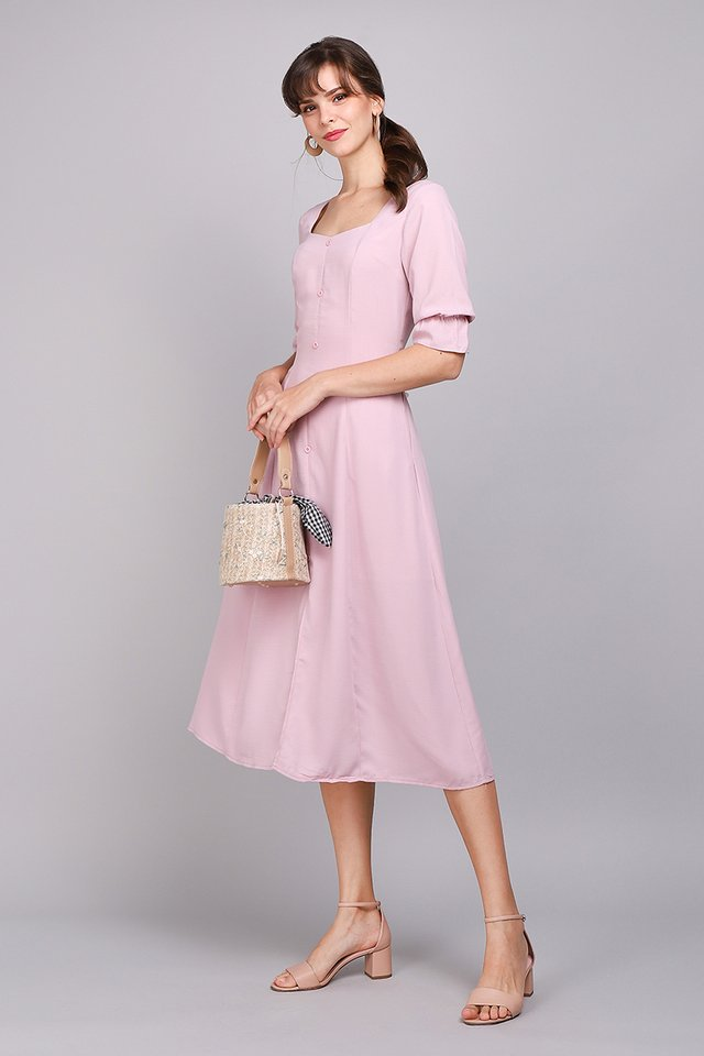 Castle Romance Dress In Dusty Pink
