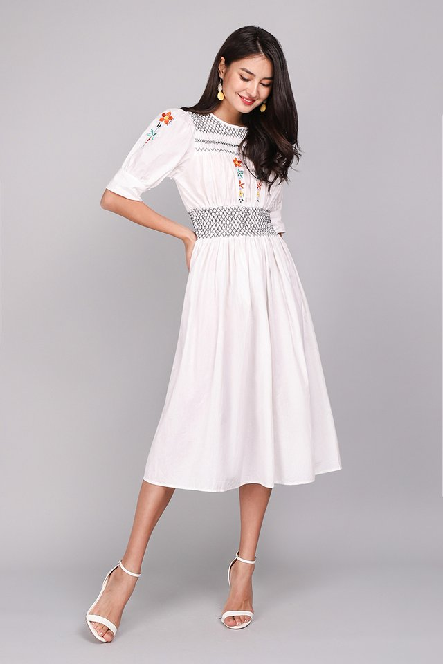 Her Secret Garden Dress In Classic White